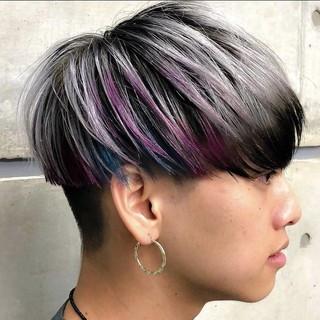 ショートヘア マッシュショート 刈り上げ ショート ヘアスタイルや髪型の写真・画像