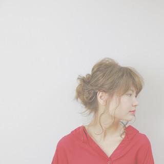 ナチュラル 簡単ヘアアレンジ 大人女子 セミロング ヘアスタイルや髪型の写真・画像
