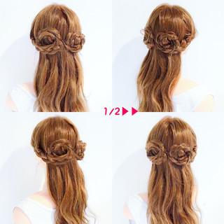 簡単ヘアアレンジ ヘアアレンジ ロング エレガント ヘアスタイルや髪型の写真・画像