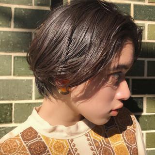ミニボブ パーマ ナチュラル 抜け感 ヘアスタイルや髪型の写真・画像