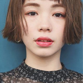 春 切りっぱなし アンニュイ ゆるふわ ヘアスタイルや髪型の写真・画像
