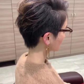ベリーショート 外国人風 ナチュラル かき上げ前髪 ヘアスタイルや髪型の写真・画像