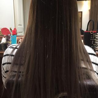 アッシュ ナチュラル グラデーションカラー グレージュ ヘアスタイルや髪型の写真・画像