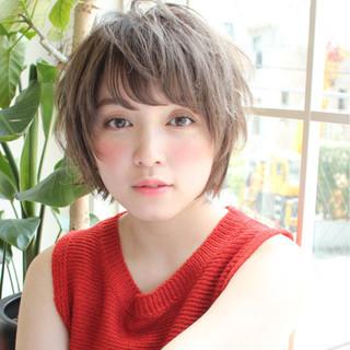 色気 斜め前髪 パーマ アンニュイ ヘアスタイルや髪型の写真・画像