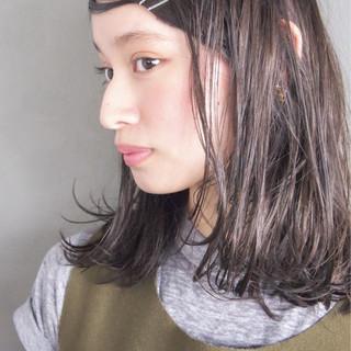 大人かわいい 大人女子 ミディアム ニュアンス ヘアスタイルや髪型の写真・画像