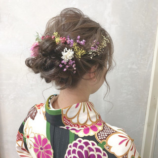ヘアアレンジ 謝恩会 結婚式 パーティ ヘアスタイルや髪型の写真・画像