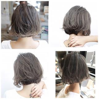 グレージュ 外国人風カラー ストリート ボブ ヘアスタイルや髪型の写真・画像
