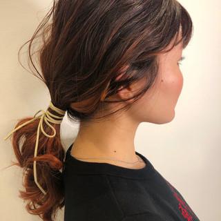 ミディアム 簡単ヘアアレンジ 結婚式 成人式 ヘアスタイルや髪型の写真・画像