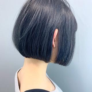 黒髪 簡単スタイリング 大人かわいい ボブ ヘアスタイルや髪型の写真・画像