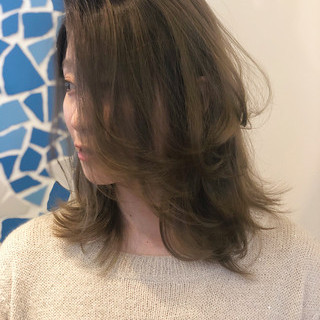 ストリート 大人ハイライト ミディアム グラデーションカラー ヘアスタイルや髪型の写真・画像