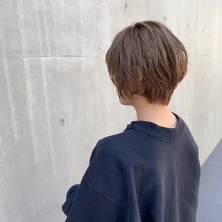 グレージュ ナチュラル ショートヘア ベージュ ヘアスタイルや髪型の写真・画像