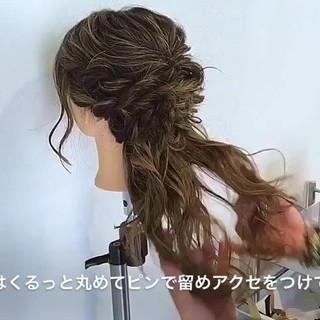 エレガント ブライダル ロング ヘアアレンジ ヘアスタイルや髪型の写真・画像