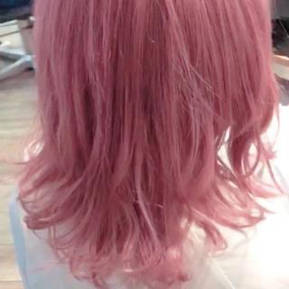 ピンク ヘアカラー フェミニン ピンクラベンダー ヘアスタイルや髪型の写真・画像