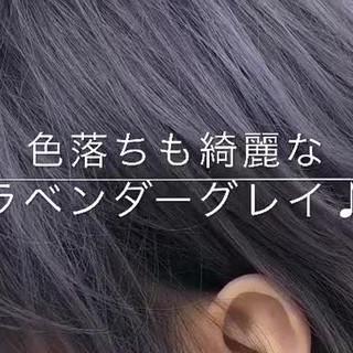 ラベンダーアッシュ 上品 ショート 透明感 ヘアスタイルや髪型の写真・画像