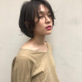 ナチュラル 透明感 ショート 小顔 ヘアスタイルや髪型の写真・画像