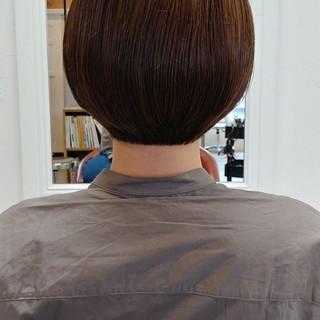 小顔ショート ショートヘア ナチュラル ボブ ヘアスタイルや髪型の写真・画像
