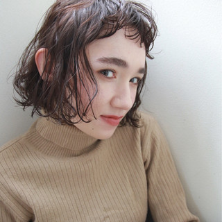 ボブ パーマ 冬 色気 ヘアスタイルや髪型の写真・画像