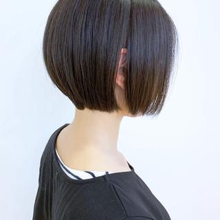 ショートヘア 丸みショート ショートボブ ナチュラル ヘアスタイルや髪型の写真・画像