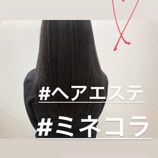 美髪 最新トリートメント ロング ナチュラル ヘアスタイルや髪型の写真・画像
