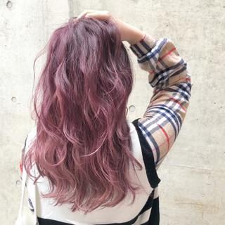 ロング 外国人風カラー ストリート ラベンダーアッシュ ヘアスタイルや髪型の写真・画像