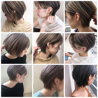 アンニュイほつれヘア ミニボブ ショート ショートボブ ヘアスタイルや髪型の写真・画像