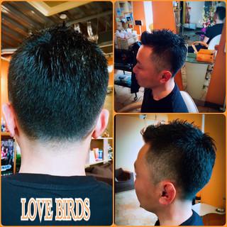 ストリート メンズ ベリーショート 黒髪 ヘアスタイルや髪型の写真・画像