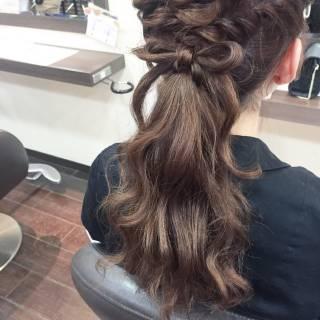 編み込み 結婚式 ショート コンサバ ヘアスタイルや髪型の写真・画像