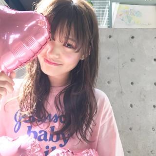 透明感 ガーリー ピンクアッシュ リラックス ヘアスタイルや髪型の写真・画像
