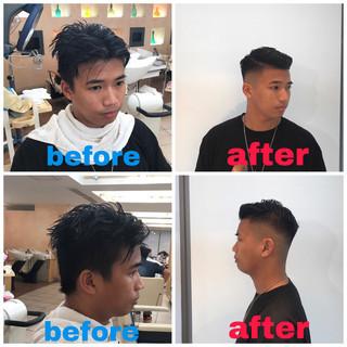 ショート スキンフェード 刈り上げ メンズカット ヘアスタイルや髪型の写真・画像