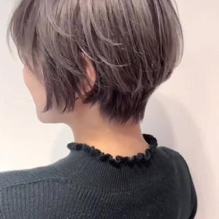 ハイトーン 外国人風カラー ショートヘア 外国人風 ヘアスタイルや髪型の写真・画像