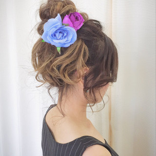 ヘアアレンジ 涼しげ 和装 お団子 ヘアスタイルや髪型の写真・画像 ヘアスタイルや髪型の写真・画像