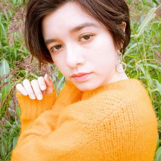 ナチュラル ショート 秋冬ショート アンニュイほつれヘア ヘアスタイルや髪型の写真・画像 ヘアスタイルや髪型の写真・画像