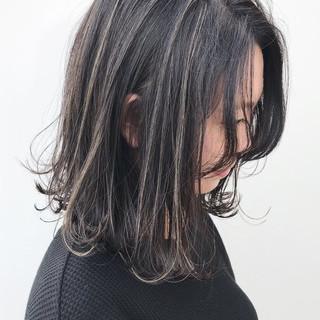 外ハネ 大人かわいい ハイライト 横顔美人 ヘアスタイルや髪型の写真・画像