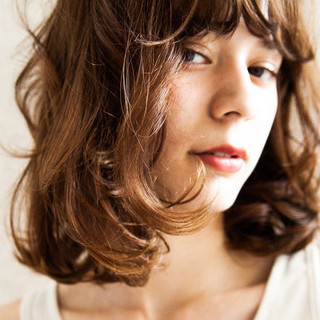 ヘアアレンジ チョコレート ロブ ショコラブラウン ヘアスタイルや髪型の写真・画像