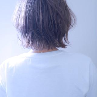 外ハネ ボブ 外国人風カラー ストリート ヘアスタイルや髪型の写真・画像