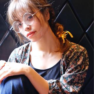 ヘアアレンジ 抜け感 秋 透明感 ヘアスタイルや髪型の写真・画像