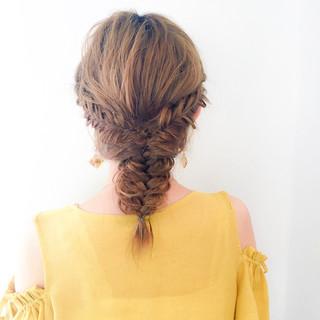 ルーズ デート ナチュラル ヘアアレンジ ヘアスタイルや髪型の写真・画像