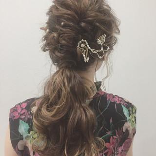 ロング ふわふわ ヘアアレンジ 大人女子 ヘアスタイルや髪型の写真・画像