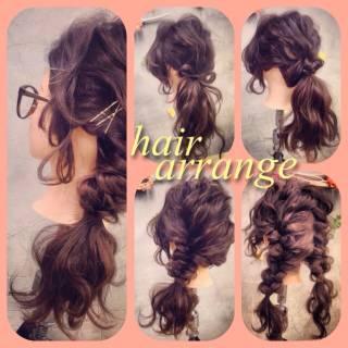 ヘアアクセ ヘアピン フィッシュボーン ヘアアレンジ ヘアスタイルや髪型の写真・画像 ヘアスタイルや髪型の写真・画像