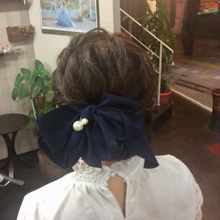 ナチュラル ミディアム 結婚式 結婚式ヘアアレンジ ヘアスタイルや髪型の写真・画像