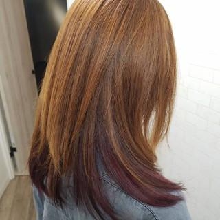縮毛矯正名古屋市 艶髪 ロング 派手髪 ヘアスタイルや髪型の写真・画像