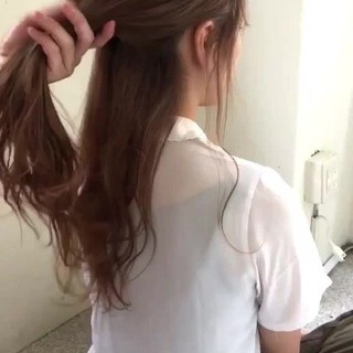 ガーリー オフィス ロング デート ヘアスタイルや髪型の写真・画像