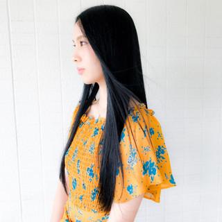 黒髪ロングは前髪なしで垢抜け女子になれる魔法のヘア♡