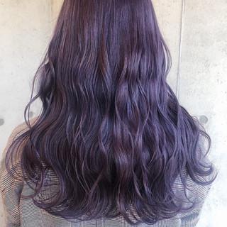 波ウェーブ ピンクカラー ダブルカラー ストリート ヘアスタイルや髪型の写真・画像