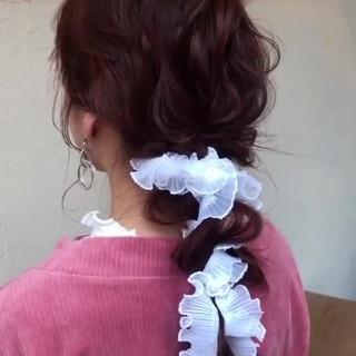 結婚式アレンジ 結婚式ヘアアレンジ ガーリー 卒業式 ヘアスタイルや髪型の写真・画像