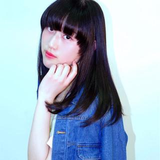 艶髪 かっこいい 暗髪 黒髪 ヘアスタイルや髪型の写真・画像