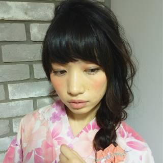 愛され 編み込み コンサバ ショート ヘアスタイルや髪型の写真・画像