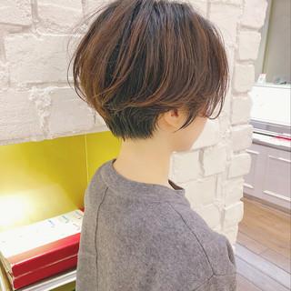 ショート ショートヘア 切りっぱなしボブ ミニボブ ヘアスタイルや髪型の写真・画像