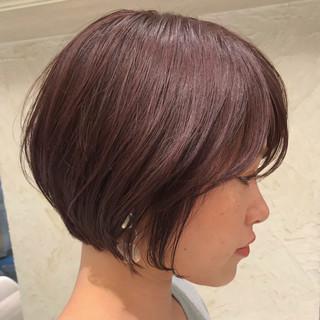 ショート イルミナカラー アッシュバイオレット ピンク ヘアスタイルや髪型の写真・画像
