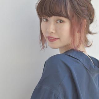 ハーフアップ ボブ ストリート ヘアアレンジ ヘアスタイルや髪型の写真・画像 ヘアスタイルや髪型の写真・画像